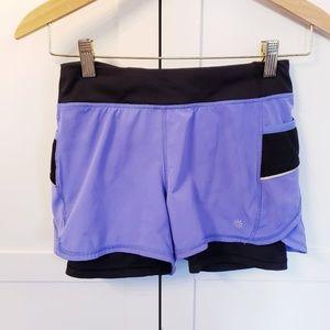 Athleta Girl workout shorts purple large 12 girls
